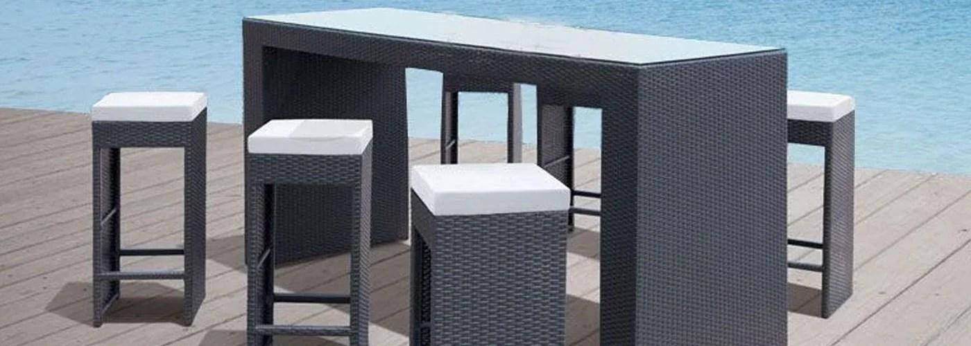 wicker outdoor bar settings online