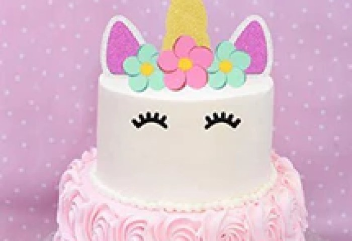 Unicorn Cake Topper Happy Birthday Cake Decoration Gold Sliver And