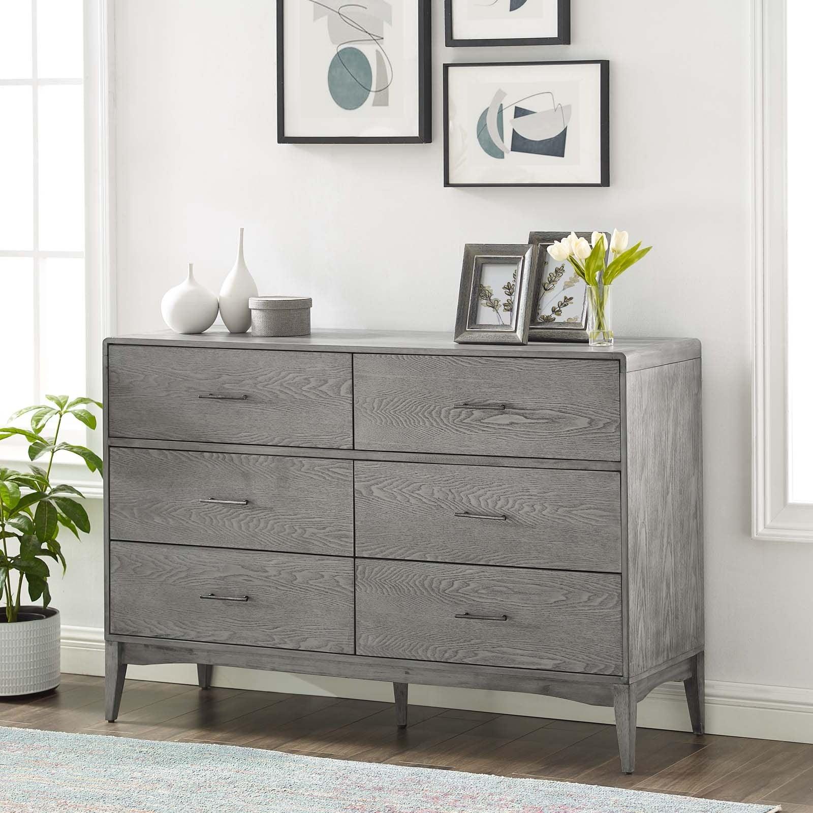 georgia wood dresser gray