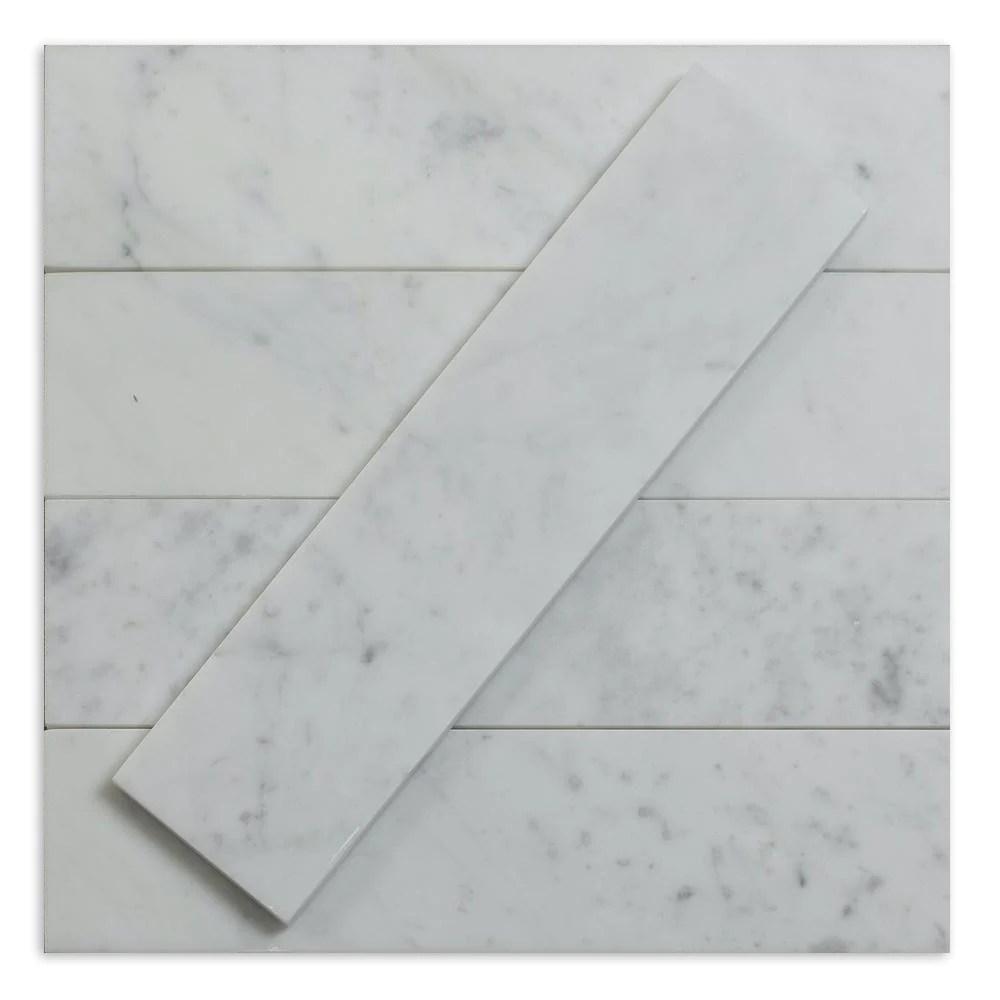 carrara white 3x12 marble subway tile priced per 1 sqft