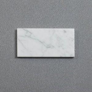 carrara white 3x6 subway marble tile