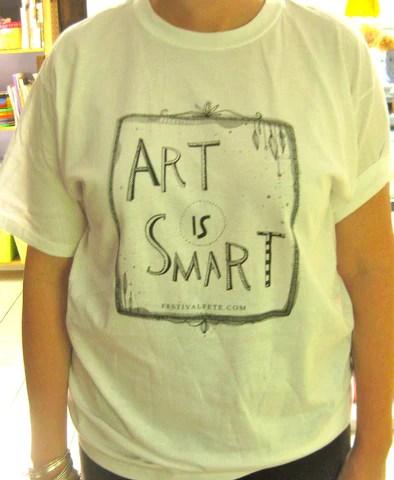 Art Is Smart T-Shirt, White