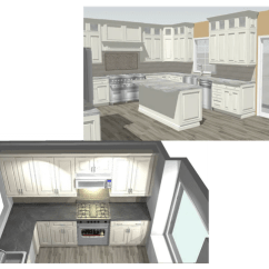 How To Design A Kitchen White Appliances Two Alternative 3d Renderings Blueprints 53 Off Vvprise We Are America S Number 1 Online Designer Upgrade