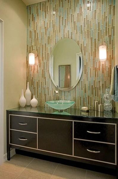 Trending in Bathroom Decor Glass Tile  Rotator Rod