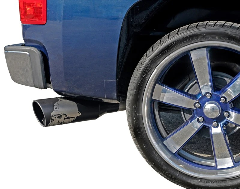 gibson performance exhaust metal mulisha cat back single exhaust system stainless dodge ram 1500 crew cab pickup 60 0005