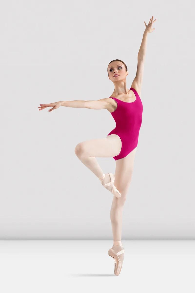 ladies ballerina basic tank leotard