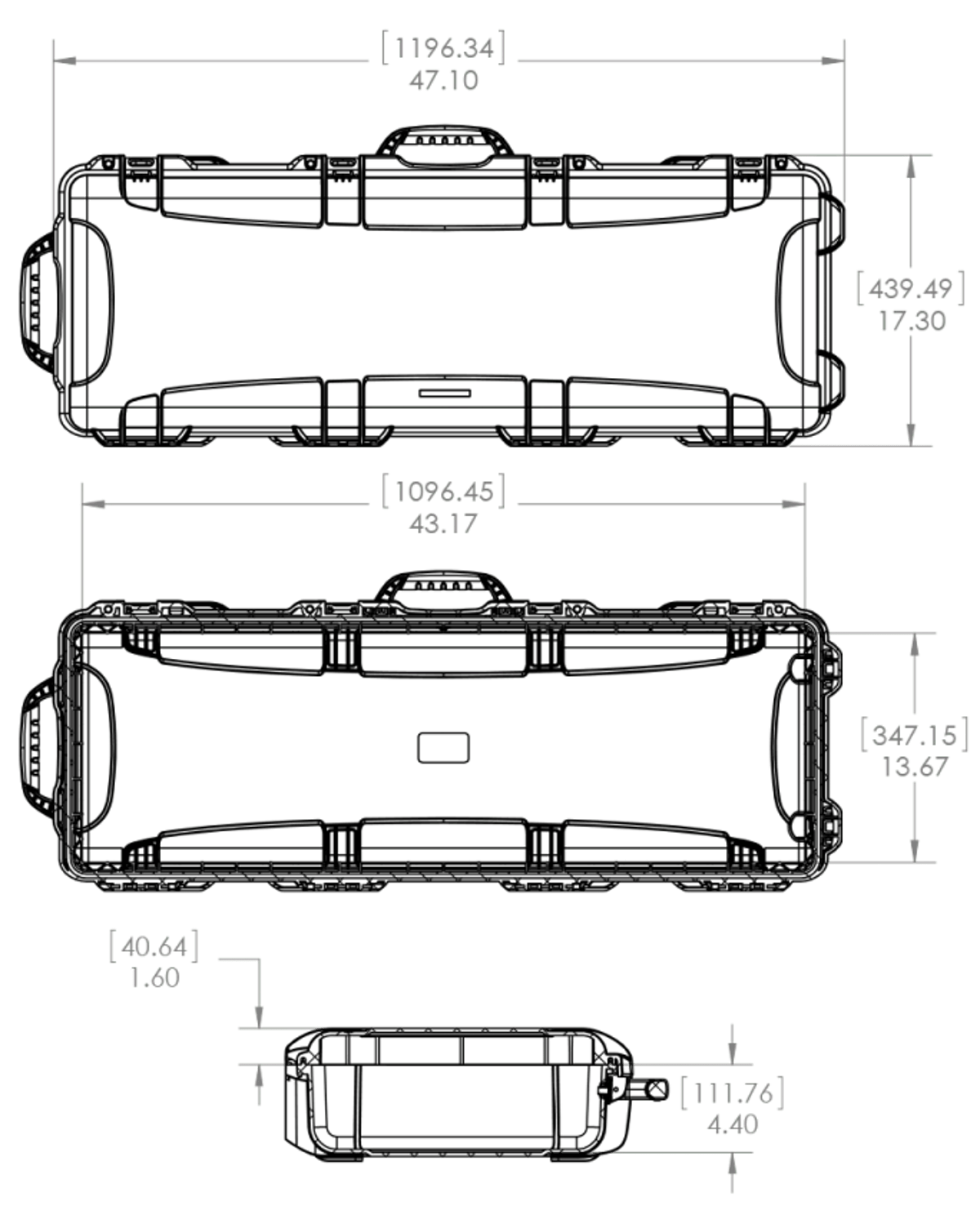 hight resolution of dimensions of the nanuk 990 ar 15 hard case
