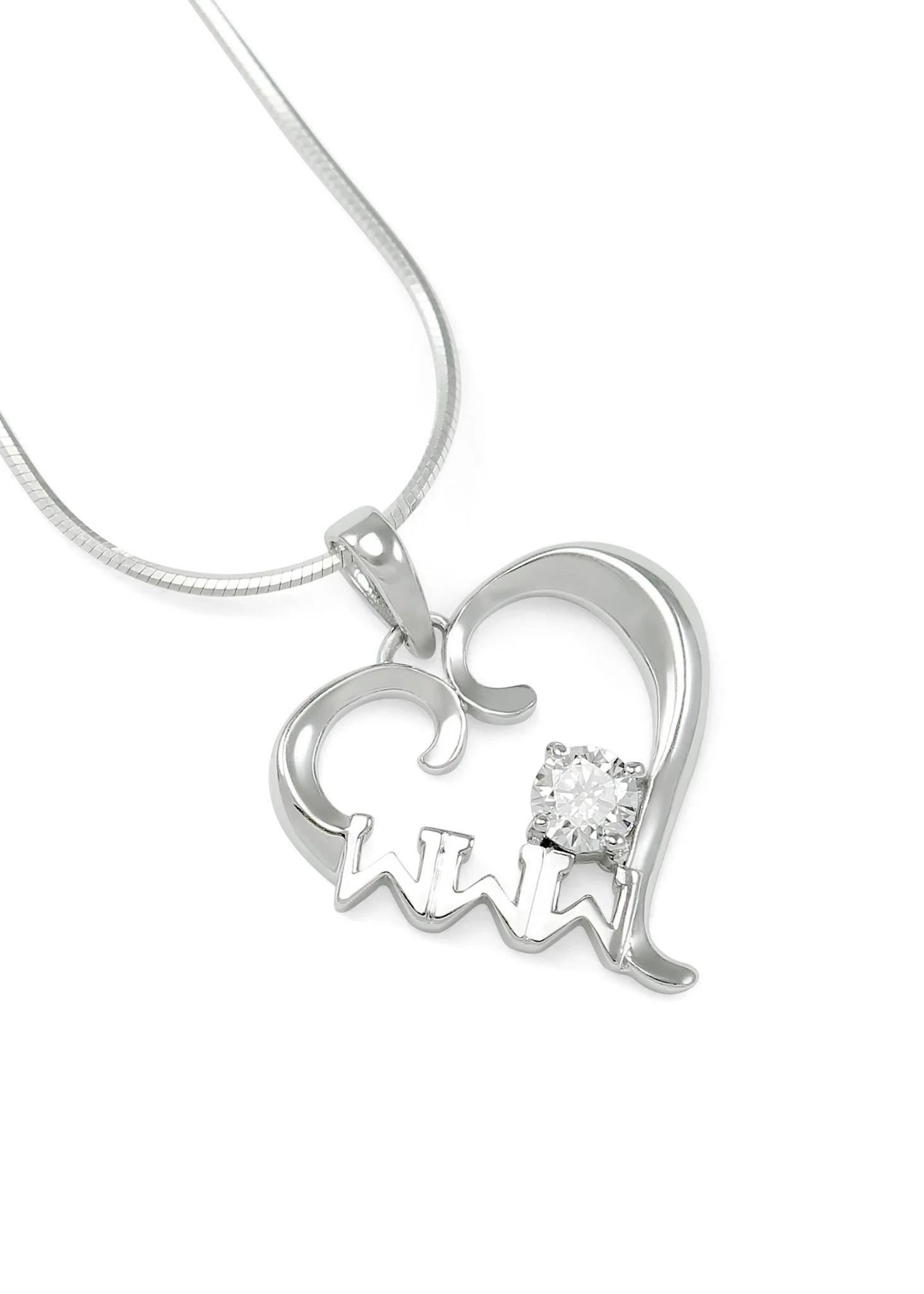 Tri Sigma Letters : sigma, letters, Sigma, Necklace, Sterling, Silver, Heart, Pendant, Collegiate, Standard