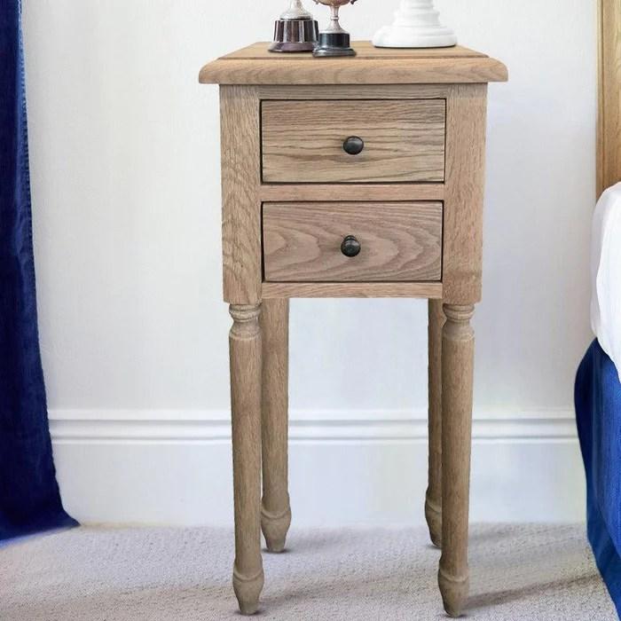 Oak Bedside Table Small
