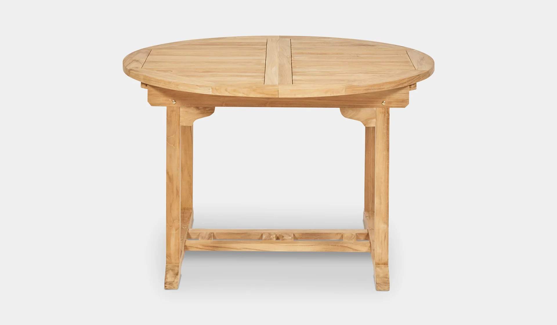 Teak Round Extending Table 120 180cm Woodbury Furniture