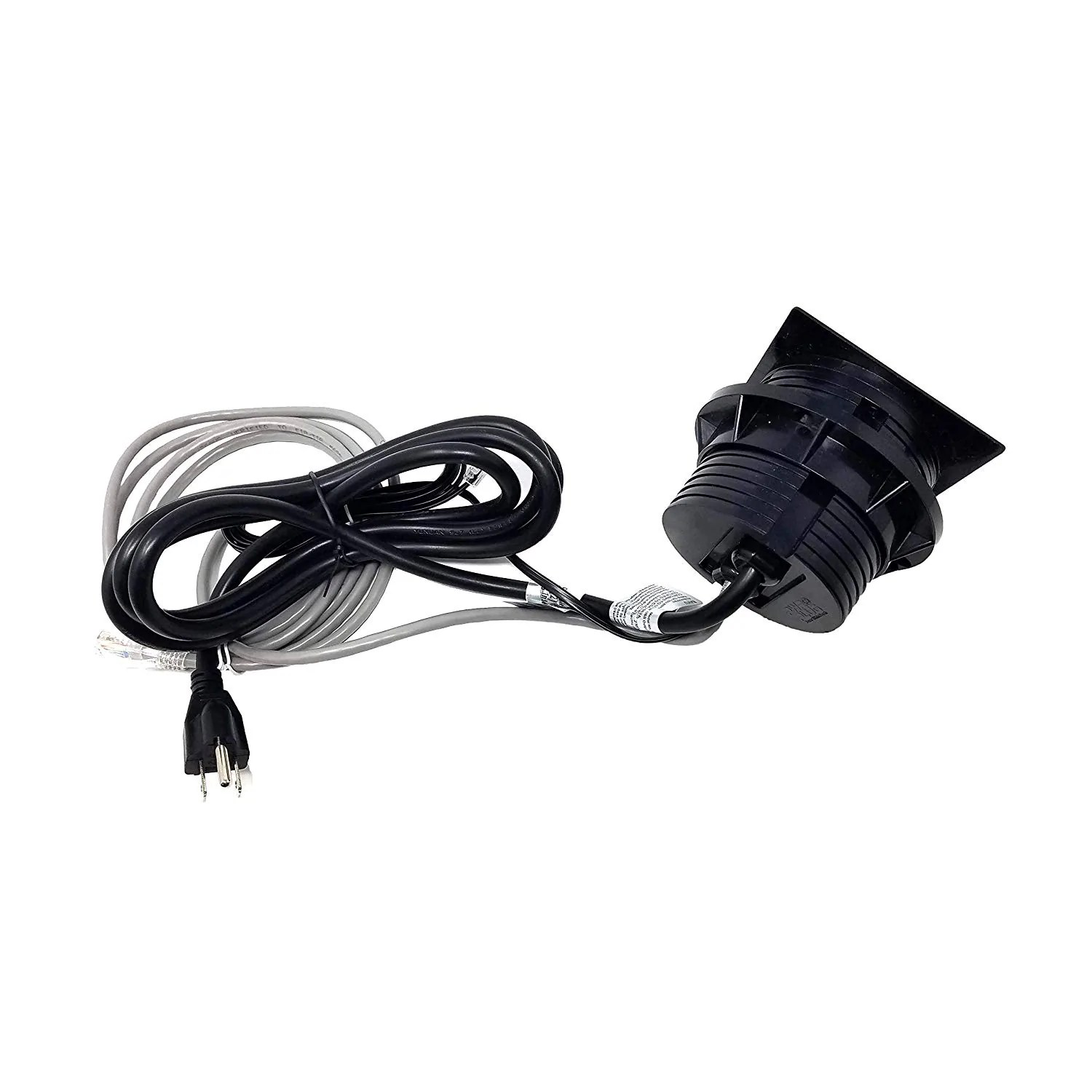 small resolution of  pwr plug power grommet with phone jack universal fit 3 1 8 3