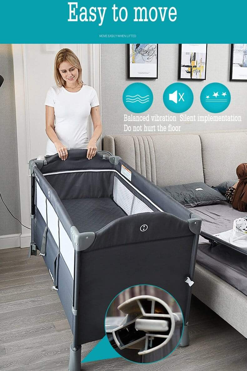 Bassinet Attached To Bed : bassinet, attached, Portable, Bassinet, Sleeper, Attached, Bedside, Newbabywish