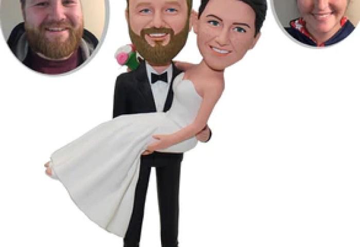 Personalized Bride And Groom Cake Topper Custom Wedding Cake