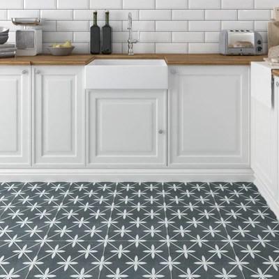 devon charcoal feature tiles 33x33cm
