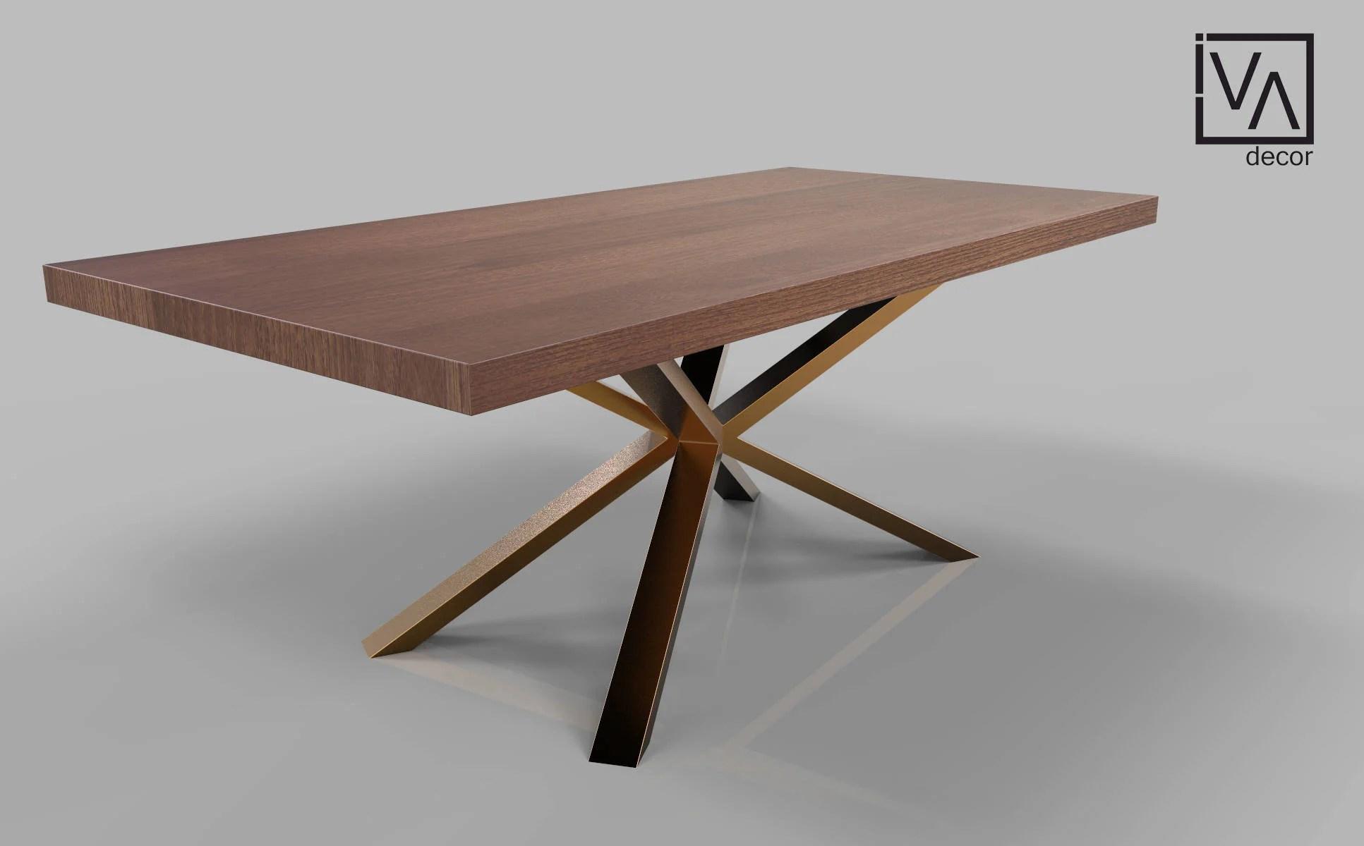 spider live edge table base