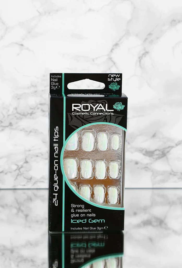 royal mermaid false nails pink