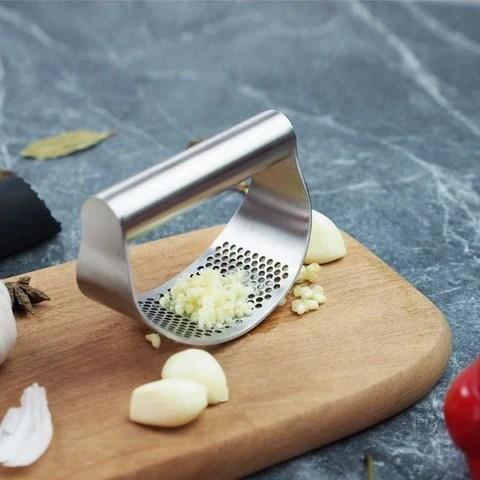 triturador amassador de alho, prensa de alho manual