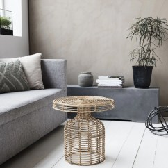 Rattan Side Tables Living Room Ideas With Sectionals And Fireplace 2 Table House Doctor Design Vintage