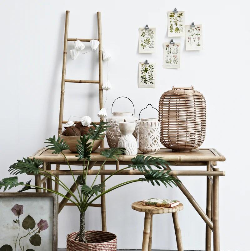 Bamboo Ladder Towel Bathroom Design Vintage