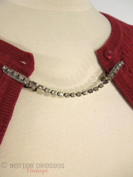 Vintage 50s Rhinestone Sweater Clips  Better Dresses Vintage