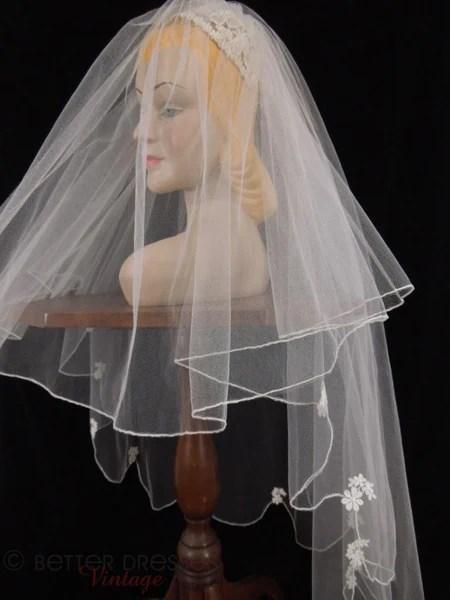 50s Juliet Style Wedding Veil Bridal Headpiece  Better Dresses Vintage