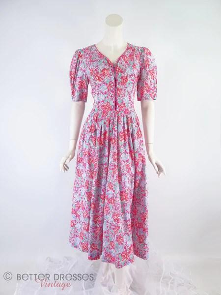 80s Laura Ashley Floral Cotton Dress  sm  Better Dresses