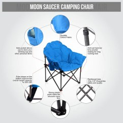 Padded Camping Chair Desk Turquoise Alpha Camp Folding Oversized Moon Alphamarts Blue