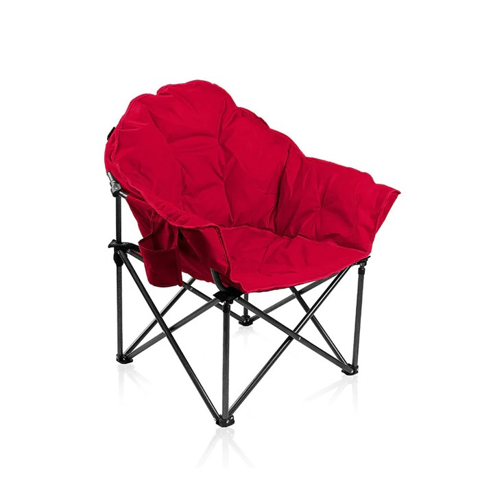 moon chairs for adults wheelchair mobility alpha camp folding oversized padded chair alphamarts red