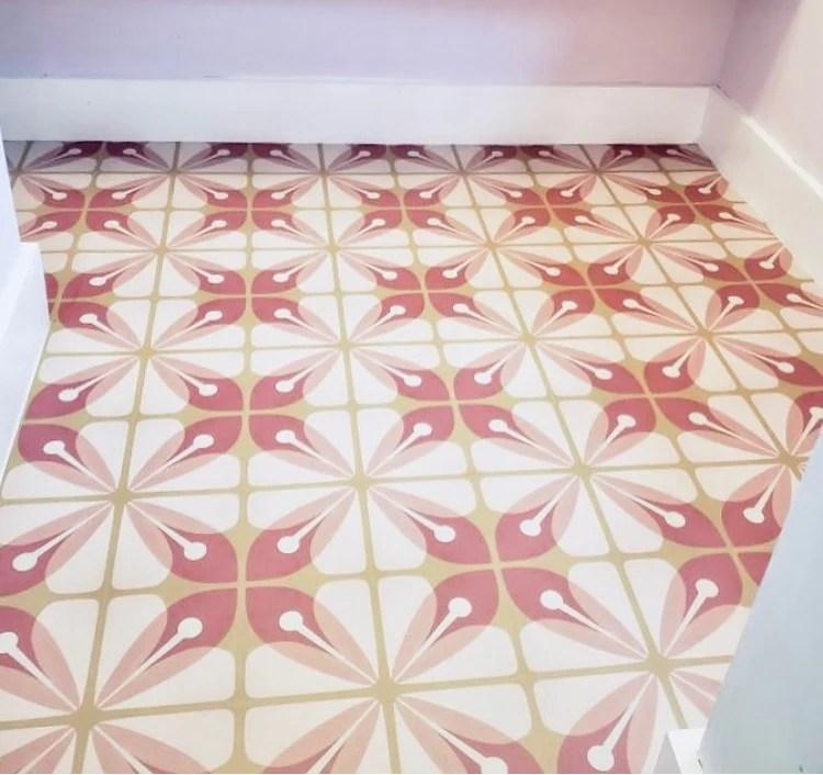 bloom peel stick decorative floor decals