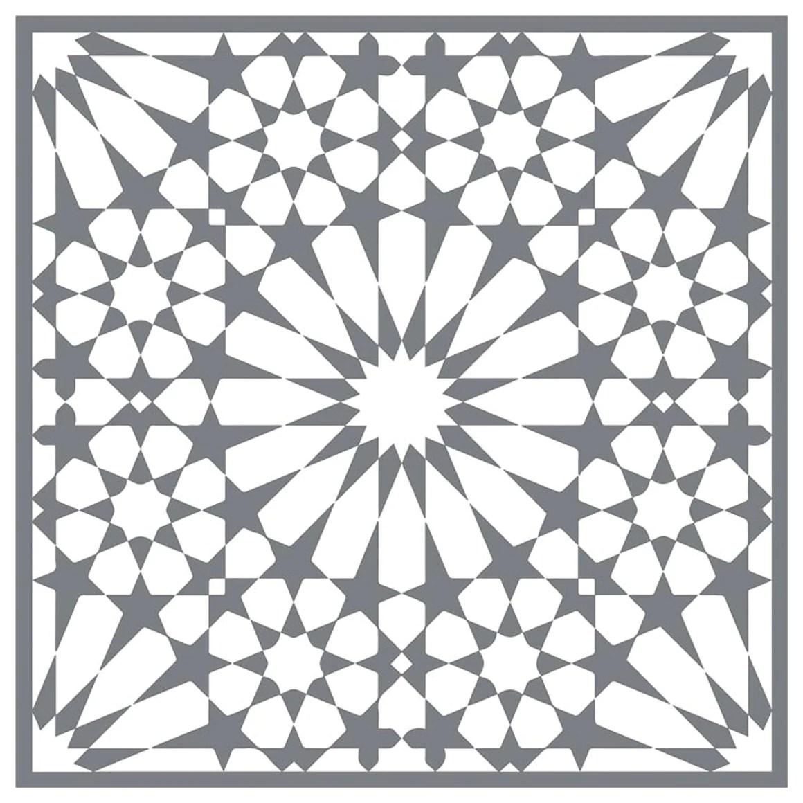 mesh stencil floor tile moroccan ahlambra 12x12