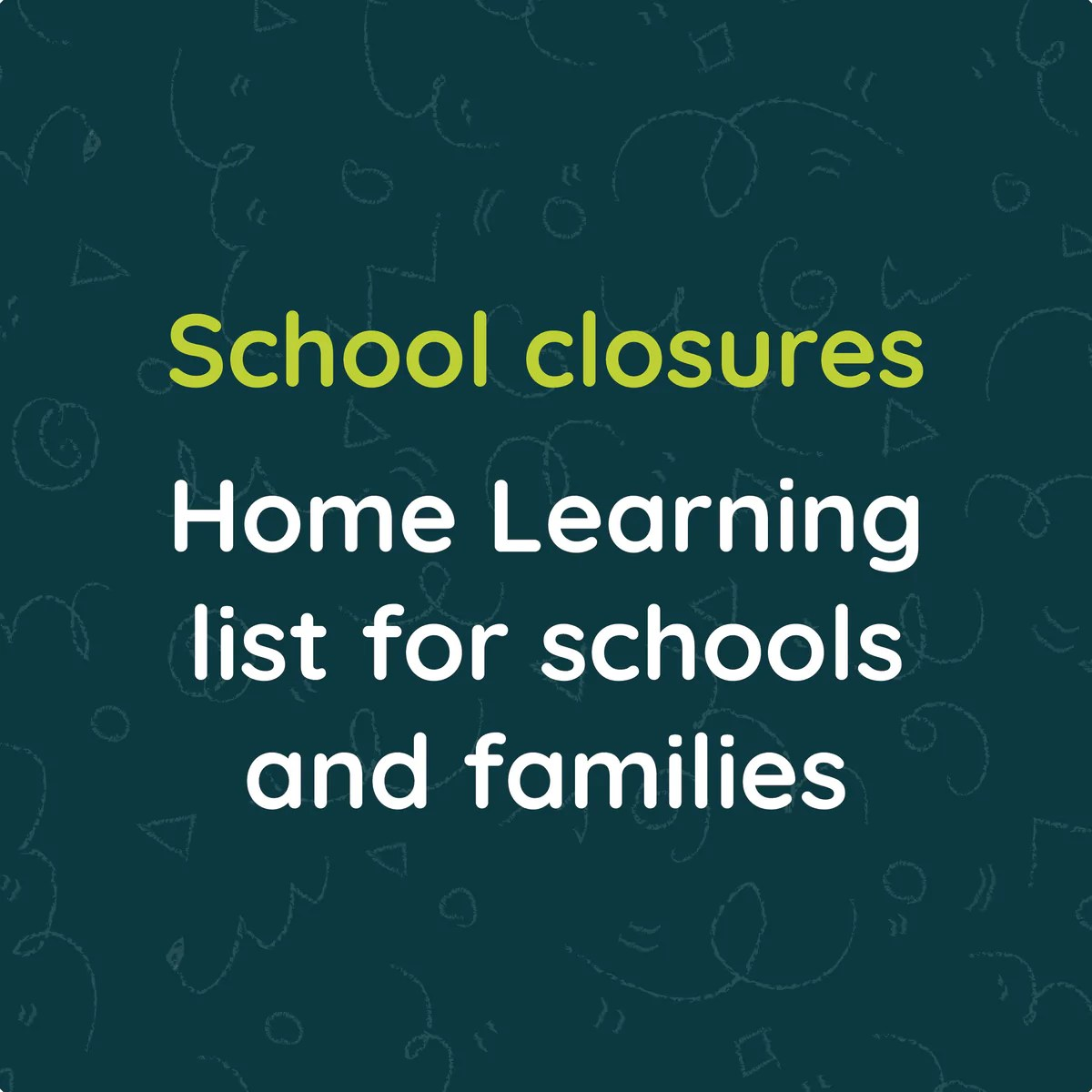 Home Learning Resources List for Schools and Families – ChatterPack [ 1200 x 1200 Pixel ]