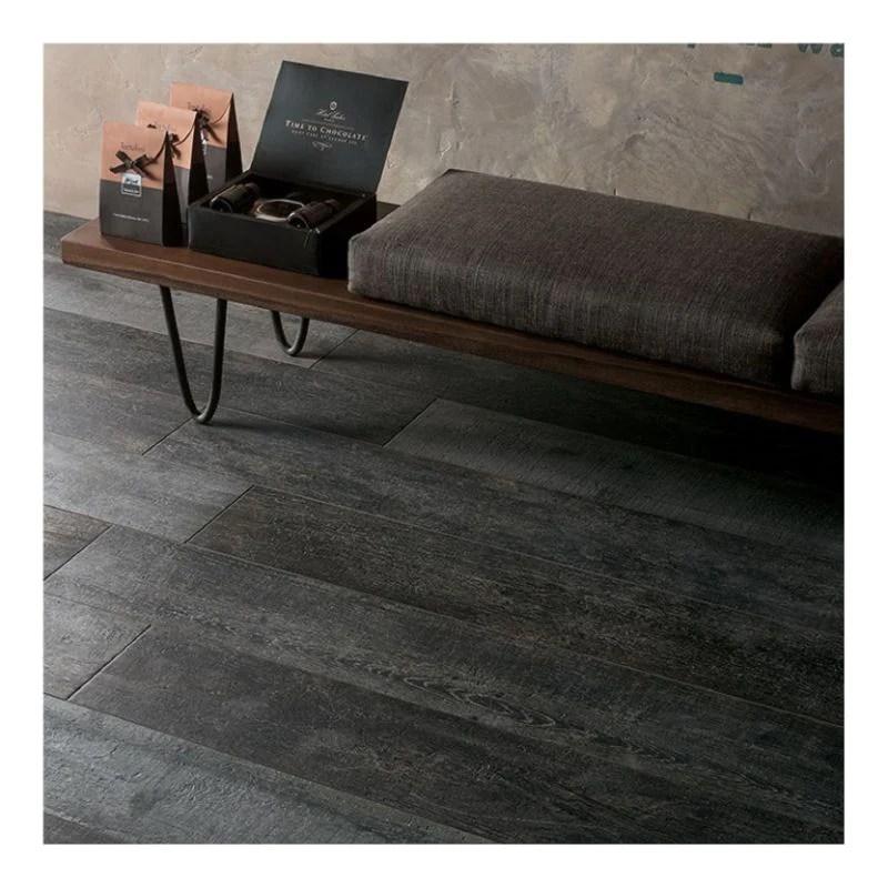 noon charcoal 8x48 italian wood look porcelain tile