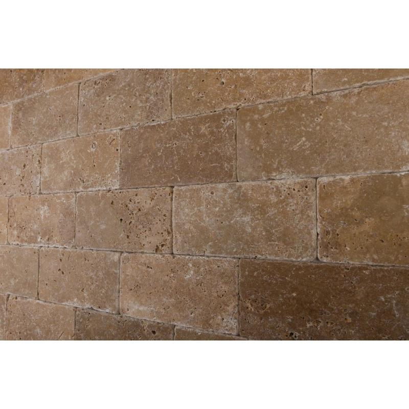 noce travertine 3x6 tumbled tile