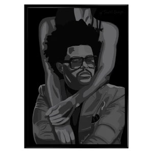 the weeknd poster after hours abstract poster
