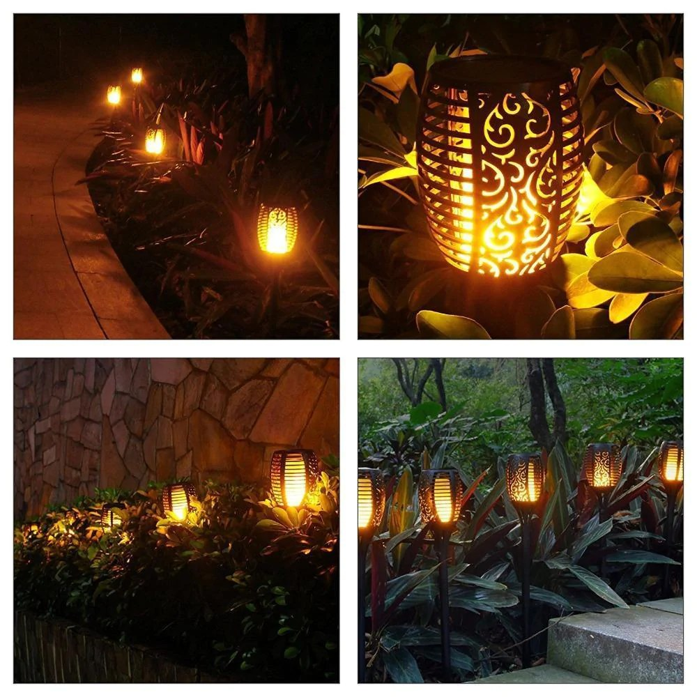 Hot Selling2019 LED Solar Path Torch Light Dancing