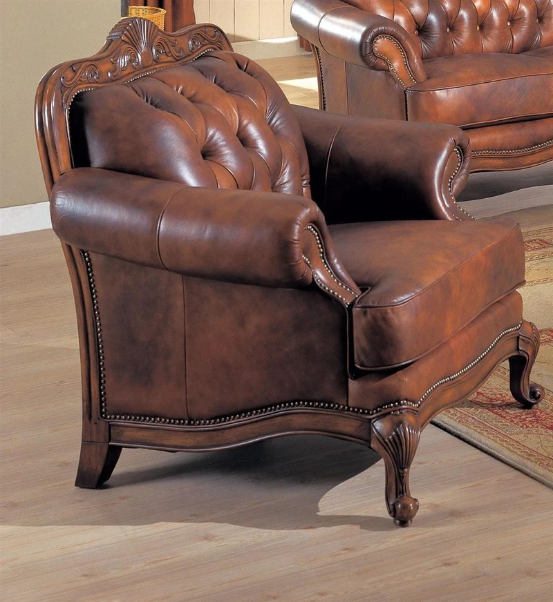 brown living room chairs diy shabby chic ideas chairchairs for sale staten island ny forest furniture coaster victoria 500683 traditional chair