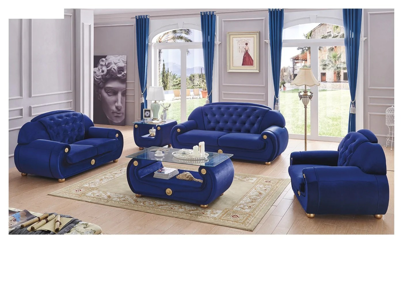 sofas dark blue willow and hall 3 seater sofa bed esf forest furniture giza fabric in