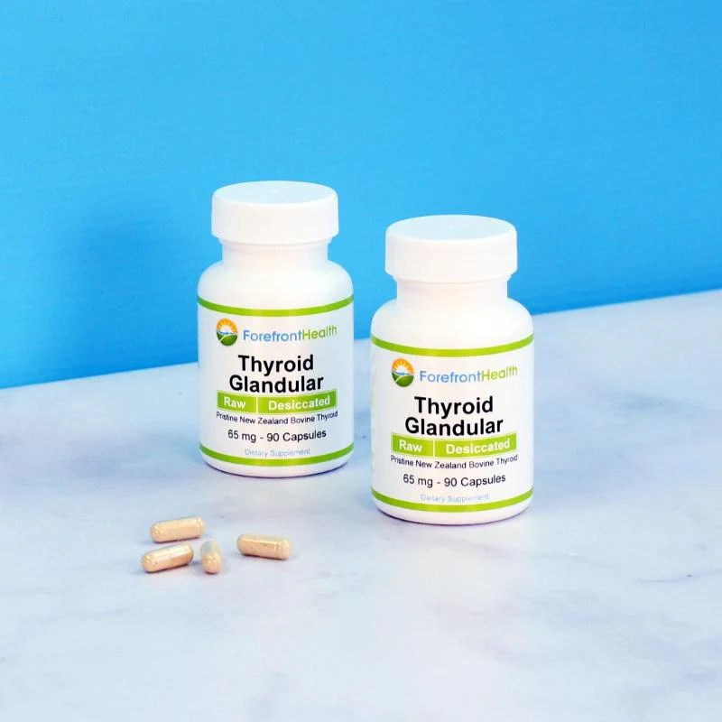 Raw Desiccated Thyroid (65 mg capsules) - Forefront Health