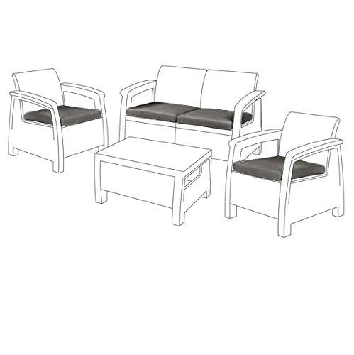 gardenista cojines de asiento al aire libre para muebles de ratan cojines de muebles de jardin resistentes al agua cojines para sillas de patio