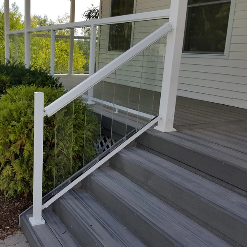 Clear Angled Glass Panels 6 – Wanna Window   Clear Handrails For Stairs   Steel   Clear Acrylic   Wood   Riser   Metal