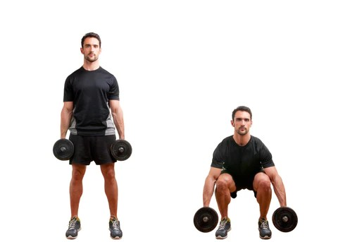 Dumbbell Squat at Home