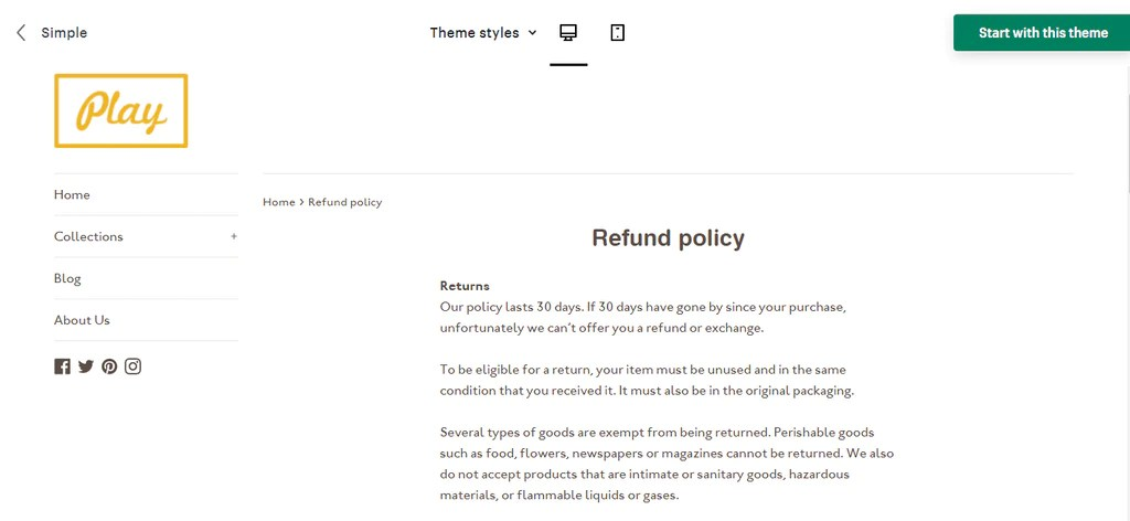 I clicked on that, and viewed the policy in my store. Best 15 Shipping Policy Templates For Your Shopify Store 2021
