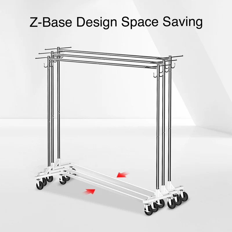 greenstell rolling z base clothes rack