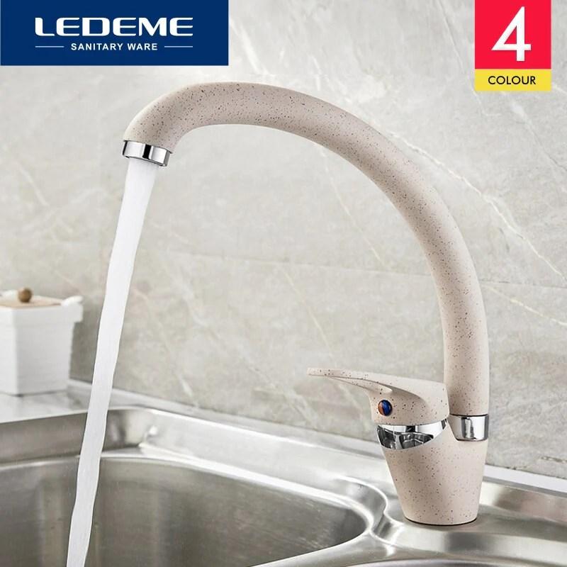 ledeme color kitchen faucet mixer water tap single holder single hole