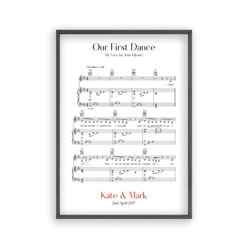our first dance music sheet