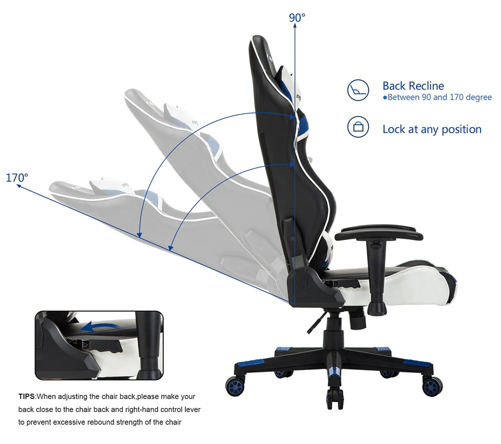 Body Built Chairs Pro Series Gt991 Blue Gtracing