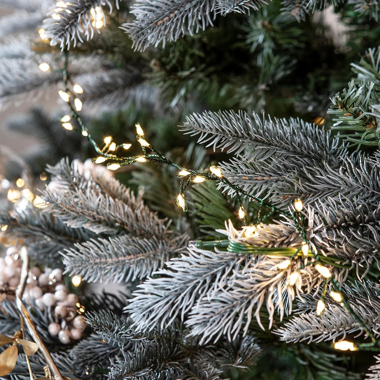 1200 warm white led micro cluster christmas tree lights 15m [ 1500 x 1500 Pixel ]
