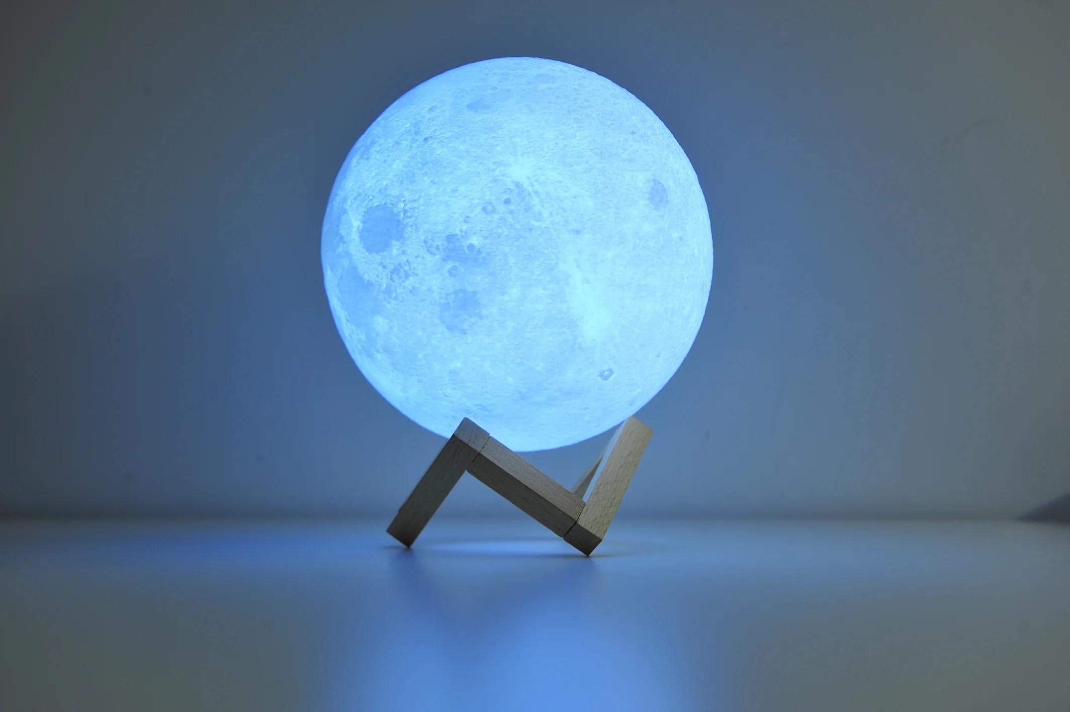 Personalisierte Mond Lampe mit Foto   Einzigartiges ...