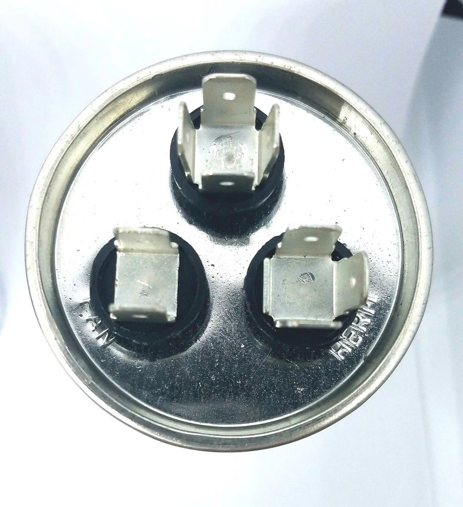 small resolution of  ac dual capacitor wiring 10 5 mfd round motor dual run capacitor 10 5 uf 370 440 volt