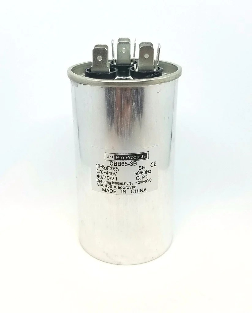 small resolution of  10 5 mfd round motor dual run capacitor 10 5 uf 370 440 volt